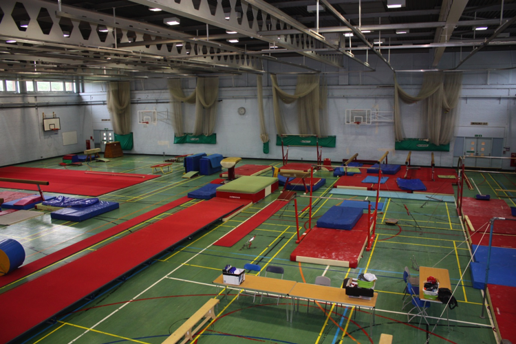 Gymnastics Layout – View From Sports Centre Balcony