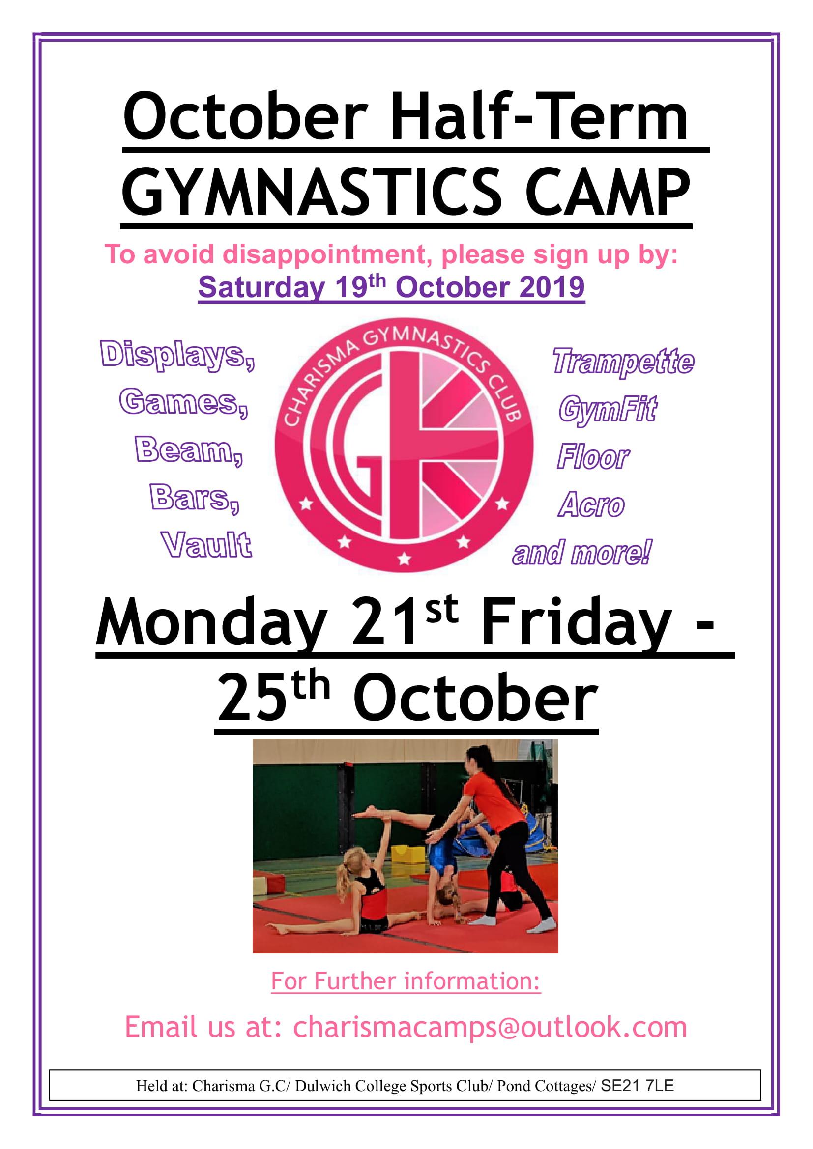 October Camps Flyer-1